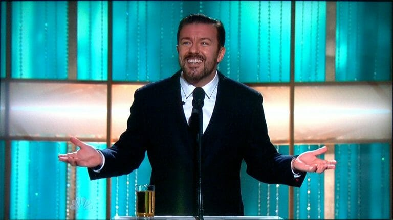 Ricky Gervais at Golden Globes